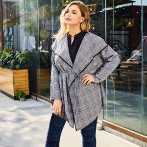 Dámský elegantní podzimní kabát Kiera