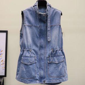 Dámská vintage džínová vesta Lillianna - kolekce 2020
