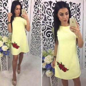 Dámské letní mini šaty s růžemi