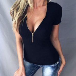 Dámské elegantní tričko se zipem Cindy