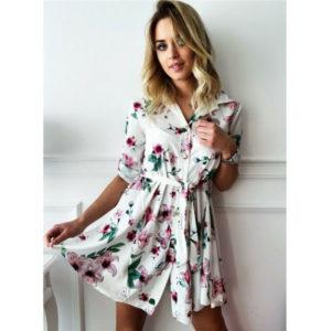 Dámské elegantní květinové šaty Amy