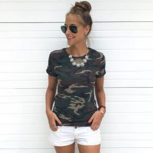 Dámské stylové Army tričko