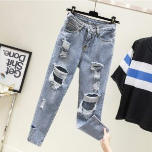 Dámské moderní trhané džíny Anneliese
