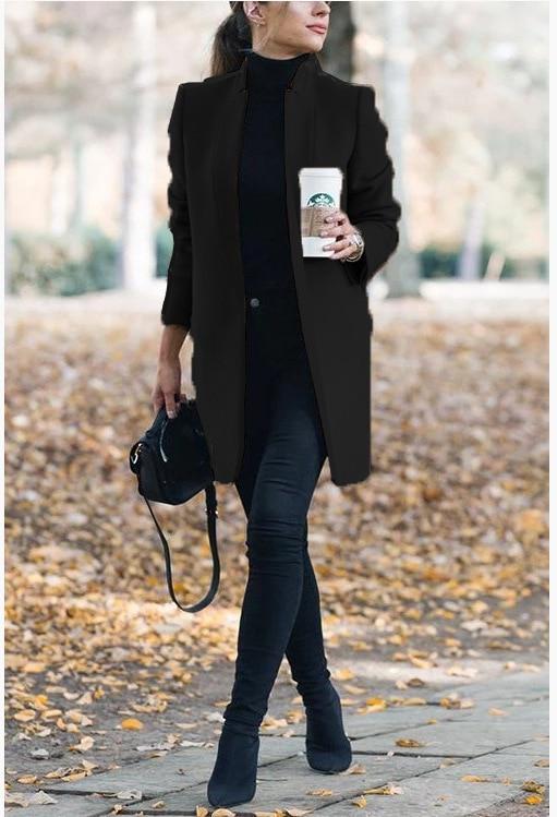 Dámský elegantní kabát Sandra