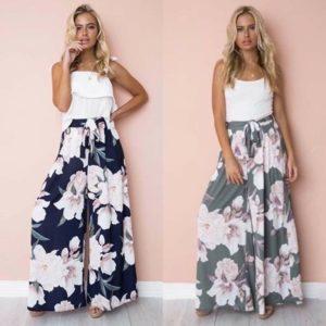 Dámské letní široké kalhoty s květy Braylene