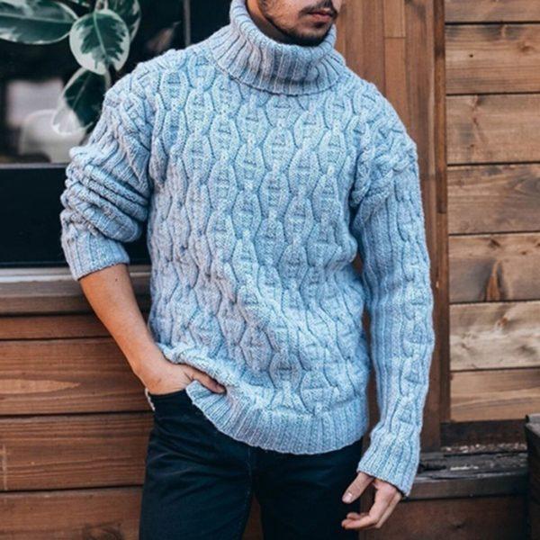 Pánský moderní pletený svetr Rangel