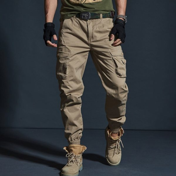Pánské vojenské kapsáčové kalhoty