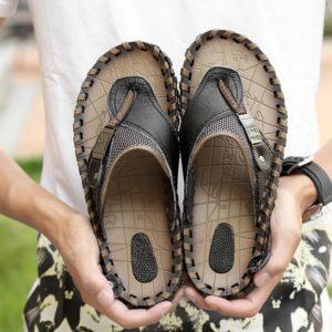 Pánské kvalitní kožené sandály