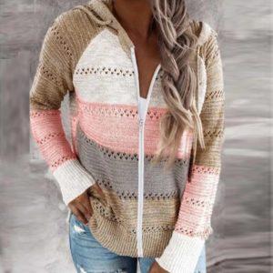 Dámský pletený svetr se zipem Jane - kolekce 2020