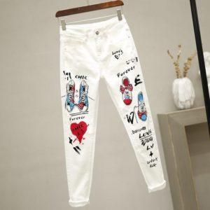 Dámské ležérní kalhoty s potiskem Danieli - kolekce 2020