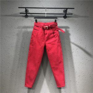 Dámské příležitostné džíny s vysokým pasem Laura