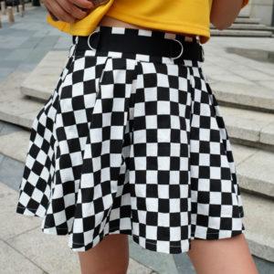 Dámská luxusní kostkovaná sukně