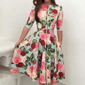 Dámské elegantní květované šaty Allison