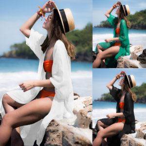 Dámská plážová průsvitná tunika Gina