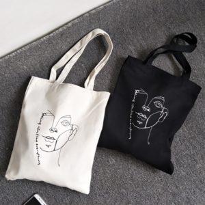 Dámská stylová plátěná taška