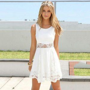 Dámské luxusní letní šaty s krajkou