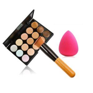 Paletka korektorů s houbičkou na make-up