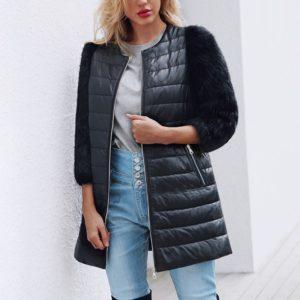 Dámský luxusní podzimní kabátek Kemma