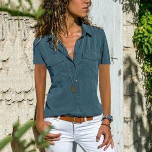 Dámská moderní košile s krátkým rukávem