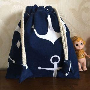 Bavlněný batoh s kotvičkou