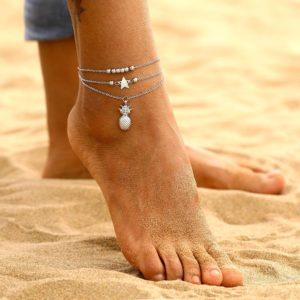 Dámský řetízek na nohu