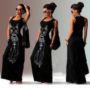 Dámské dlouhé maxi šaty Sfinx
