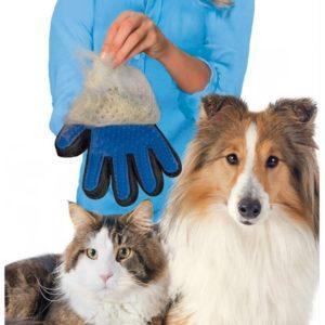 Silikonová rukavice na psí nebo kočičí srst Ines