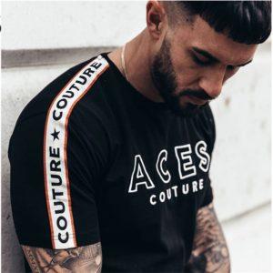 Pánské trendy triko s potiskem Aces