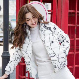 Dámská stylovápodzimní bunda s potiskem Allison