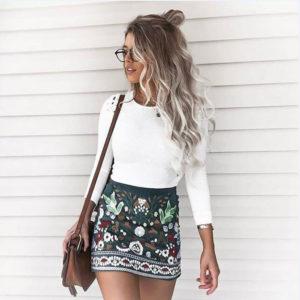 Dámská letní neformální mini sukně Floral