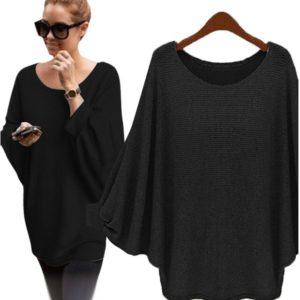 Dámský módní svetr s netopýřími rukávy Alison