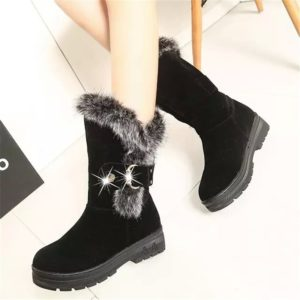 Dámské luxusní boty s kožíškem Skylar