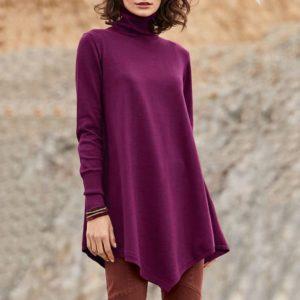 Dámský luxusní plus size volný svetr