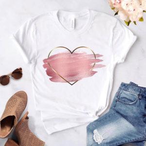 Dámské tričko se srdcem Leah