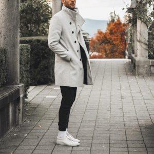 Pánský luxusní dlouhý podzimní kabát Philip