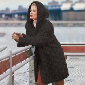 Dámský pletený cardigan s kapucí Meghan