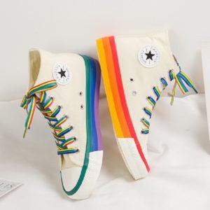 Dámské stylové kotníkové tenisky Rainbow