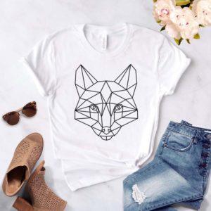Dámské tričko s geometrickou liškou