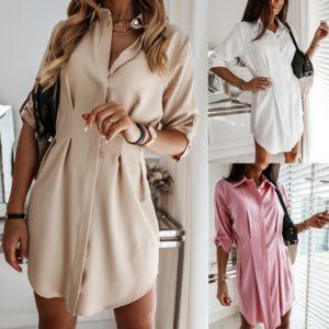 Dámské elegantní košilové šaty Makenna - kolekce 2020