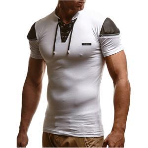 Pánské ležérní triko s tkaničkou Robbie