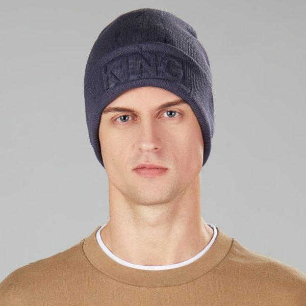 Unisex luxusní zimní čepice King - Queen