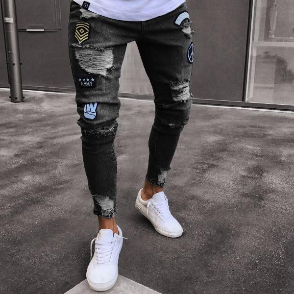 Pánské luxusní trhané džíny Marcus