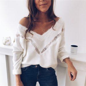 Dámský trendy svetr Auria