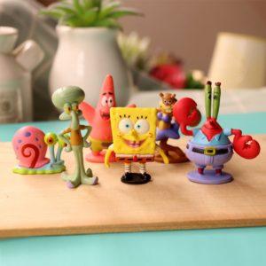 Figurky Spongebob v kalhotách - 6 ks