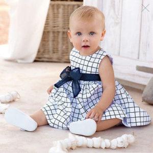 Krásné dětské šaty s velkou mašlí Gracie