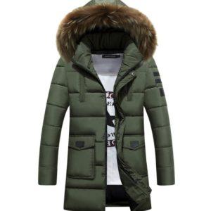 Pánský stylový zimní kabát Karim
