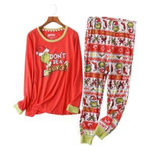Dámské pyžamo s vánočním potiskem Grinch