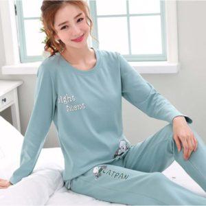 Dámské stylové pyžamo s potiskem
