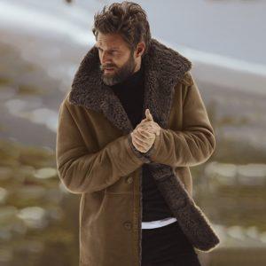 Pánský zimní kabát s kožíškem Max