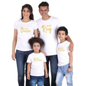 Set krásných originálních rodinných triček s korunou